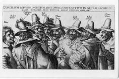 Raithby Lawrence Postcard NPG 334A Guy Fawkes & The Gunpowder Plot Conspirators