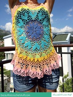 Lovebeat Crochet Top - Free Crochet Diagram - (beautifulcrochetstuff)
