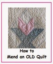 Repairing a hole in a quilt (I hope you never have to do this ... : antique quilt repair - Adamdwight.com