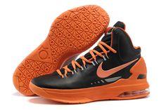 KD 5 Nike Zoom Kevin Durant Shoes Black And Orange Men Size
