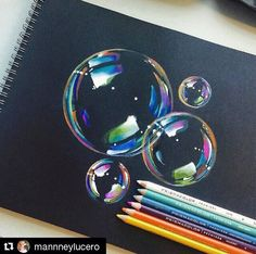 Pencil Drawing Tips bubbles Art Lessons, Pencil Art, Color Pencil Drawing, Art Drawings, Amazing Art, Colored Pencils, Art, Color Pencil Art, Art Tutorials