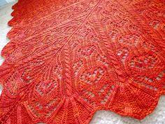"""Batik"" one of my most favorite shawl patterns of 2011"