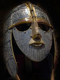 This is friggin awesome-Reconstructed 1,400 year old Anglo-Saxon ceremonial burial mask
