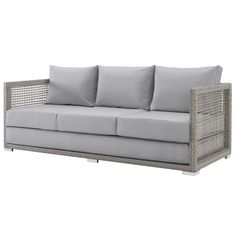 Modern Contemporary Urban Design Outdoor Patio Balcony Garden Furniture Lounge S. - Our home - Master balcony - Design Rattan Furniture Restoration Hardware Outdoor Furniture, Outdoor Furniture Sofa, Balcony Furniture, Outdoor Couch, Garden Furniture, Outdoor Decor, Furniture Decor, Outdoor Living, Sofa Bed For Small Spaces