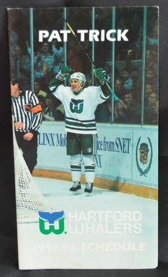 4145e1b35c9 nhl hartford whalers 1991-92 pocket hockey schedule pat verbeek from $5.0