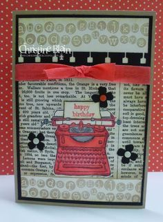STAMPIN' UP! TAP TAP TAP BIRTHDAYStamps: Tap Tap Tap, Teeny Tiny Sentiments Card: Crumb Cake, Basic Black, Very Vanilla DSP: Typeset Specialty Designer Series Paper Ink: Crumb Cake stampin' pad, Tuxedo Black Memento inkpad, Calypso Coral marker, Calypso Coral and Smoky Slate Blendabilities Other: Itty Bitty Accents punch, Spiral Border punch, Stamp-a-Ma-Jig, Neutrals and Brights candy dots, sponge dauber, Calypso Coral seam binding, glue dots