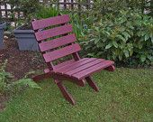 Egg Plant Color Cedar Chair adds beauty to your garden and patio  handcrafted by Laughing Creek