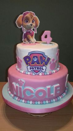 66 ideas birthday invitations girl for 2019 Girls Paw Patrol Cake, Skye Paw Patrol Cake, Girl Paw Patrol Party, Torta Paw Patrol, Paw Patrol Birthday Girl, Sky Paw Patrol, Pastel Paw Patrol, Birthday Cakes Girls Kids, 4th Birthday