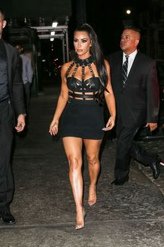 Kim Kardashian Basically Wore Bondage to the Met Gala Afterparty, Are You That Surprised? Kim Kardashian, Kanye West, Kim And Kourtney, Cow Girl, Celebrity Outfits, Sensual, Sexy Legs, Sexy Dresses, Supermodels