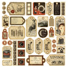 Vintage Labels Lots of printable labels, tags, and journal sheets Vintage Tags, Images Vintage, Vintage Labels, Vintage Ephemera, Vintage Paper, Vintage Prints, Graphics Vintage, Decoupage Vintage, Graphic 45