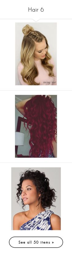 """""""Hair 6"""" by rayvrayv98 ❤ liked on Polyvore featuring beauty products, haircare, hair, frizzy hair care, hair styling tools, curly hair care, hairstyles, beauty, hair color and hair styles"""