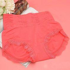 09ee2799b5 Women Lace Panties Women s High Waist Cotton Briefs Underwear Sexy Underwear  One Size