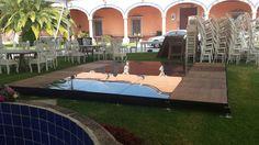 Montaje de Hacienda La Cieneguita. San Miguel de Allende, Gto. Boda  #EventosCanal #PistadeBaile #CristalyMadera #Iluminada #Ideal #SoloEventosPerfectos #LosMejoresEventos #MejoresBodasEnSanMigueldeAllende. #SillasVintage #MesasVintage #Guajajuato