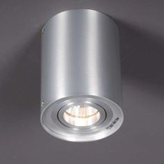 Plafondspot Rondoo 1 up aluminium  - Lampenlicht.nl