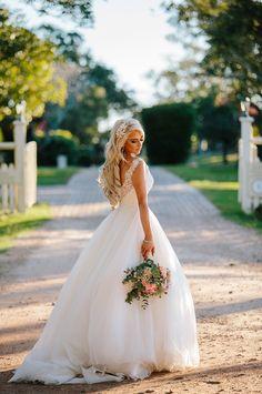 Alyssa looked oh-so romantic in Allure 2750 at her rustic outdoor Australian wedding.