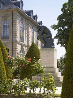 Le Penseur, devant l'hôtel Biron, au musée Rodin