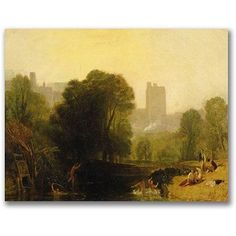 Trademark Fine Art Near the Thames Lock Windsor Canvas Wall Art by Joseph Turner, Size: 18 x 24, Multicolor