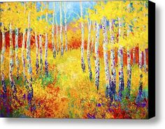 Golden Path Stretched Canvas Print / Canvas Art By Marion Rose