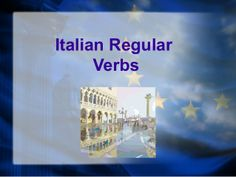 Regular Italian verbs by acunicelli. Has a great overview of what an infinitive verb actually is - a definition I have not seen written this way before.