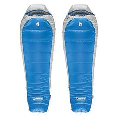 Coleman Silverton 15-Degree Tall Mummy-Style Sleeping Bag Blue (2 Pack)