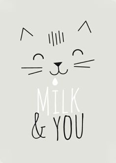 "Affichette ""Milk & You"" 