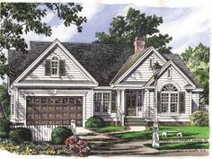 Cottage House Plan with 1535 Square Feet and 3 Bedrooms from Dream Home Source | House Plan Code DHSW41921
