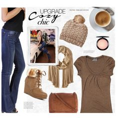 Holiday Style: Cozy Chic with Bullet Blues Jeans Made in USA by bulletblues on Polyvore featuring Michael Stars, Nanette Lepore, The Row, MAC Cosmetics and modern