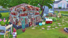 Tents Recolors for sims 4 in patchwork and rustic. Y made it for my challegence: Hippies and Veganos. Tiendas recoloreadas para los sims 4 en patchwork y tela rústica. Lo hice para mi reto de Hipppies...