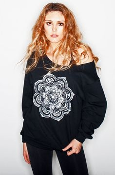 Mandala Black Sweatshirt