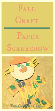 """paper scarecrow craft- perfect to make after we read """"Pumpkin Patch Scarecrows!"""""""