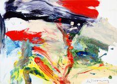 """Untitled"" 1977 Willem de Kooning.  Oil on paper on board; 30 x 41½ in. The Dayton Art Institute"