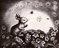 Illustration by Wanda Gág. Children's Book Illustration, Book Illustrations, Some Bunny Loves You, Commercial Art, Children's Picture Books, American Artists, Spirit Animal, Illustrators, Cute Pictures