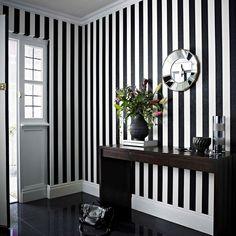 Glitterati Black / White Wallpaper by Graham and Brown