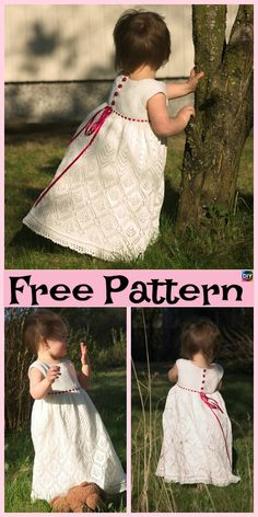 10 Most Unique Knitting Baby Dress – Free Patterns #freeknittingpatterns #dress #babygift