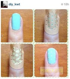 Perfect Polka-dots. I'm gonna do this :)
