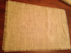 Burlap Placemats - Set of 4. $16.00, via Etsy.