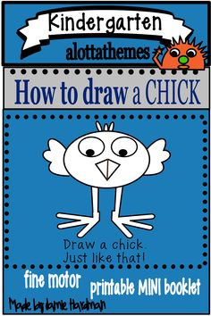 This activity is a fun and engaging hands on activity practicing those fine motor skills. Who doesn't want to learn how to draw a chick! I know my students had fun during our farm unit. drawing Published May 4 2020 Language Activities, Motor Activities, Hands On Activities, Kindergarten Classroom, Kindergarten Activities, Farm Unit, Directed Drawing, Farm Theme, Fine Motor Skills
