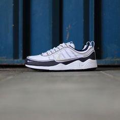 big sale a87a4 0574d Nike Air Zoom Spiridon 16 White-Metallic-Silver Blue