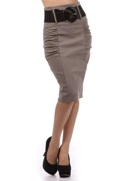 Belted Ruched Business Professional High Waist Knee Fitted Length Pencil Skirt Hot from Hollywood,http://www.amazon.com/dp/B00CJ0IEUW/ref=cm_sw_r_pi_dp_E10Dtb0C6H5GH35J