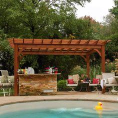 Unique Pool Pergolas To Take Rest In Spare Time