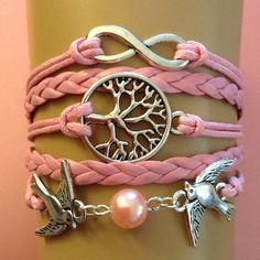 Bird, tree bracelet 5 available New size adjustable Jewelry Bracelets