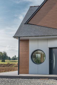 Couverture en ardoise naturelle CUPA PIZARRAS avec un dessin contemporain | #France #ardoise #couverture #architecture #inspiration #toit