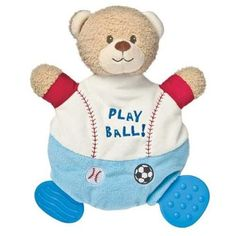 Mary Meyer Baby  Little MVP Wooby Chew Activity Toy Teether Rattle Crinkle NWT #MaryMeyerBaby
