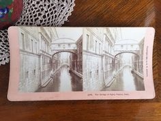 Antique Stereograph Card - The Bridge of Sighs, Venice, Italy by B.W. Kilburn