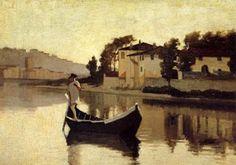 giuseppe abbati - the macchiaioli L'Arno alla Casaccia