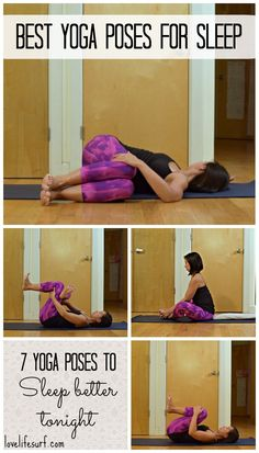 Suffering from insomnia or restless sleep? Try this bedtime yoga sequence to relax your mind and body for an amazing night's sleep. These are the best yoga poses for better sleep.