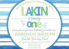 Pool Birthday Party by CECbyAshley on Etsy