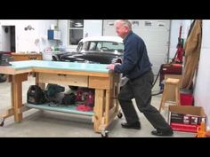 The perfect workbench for heavy duty projects that can be positioned where you need it.