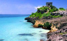 A beautiful beach scene in Tulum, Mexico