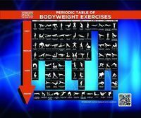 Periodic Table of Bodyweight Exercises - Strength Stack 52 - Bodyweight fitness cards http://strength.stack52.com/periodic-table-of-bodyweight-exercises/